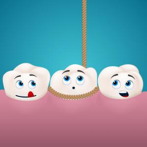 three teeth one roped